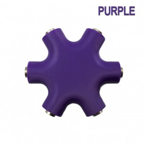 Wholesale 3.5mm Multi Headphone (Rockstar) Splitter Adapter - Purple