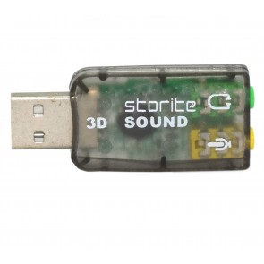 Wholesale USB 2.0 to 3D Audio Sound Card Adapter Virtual 5.1 Channel - Black