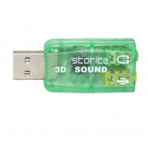 Wholesale USB 2.0 to 3D Audio Sound Card Adapter Virtual 5.1 Channel - Green