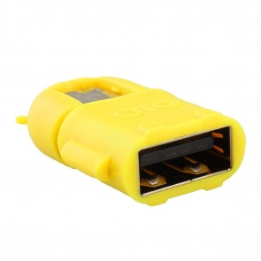Wholesale Android Shape Micro USB 2.0 OTG Adapter for Smartphones & Tablets - Yellow